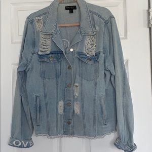 Peace and Love jean jacket WO